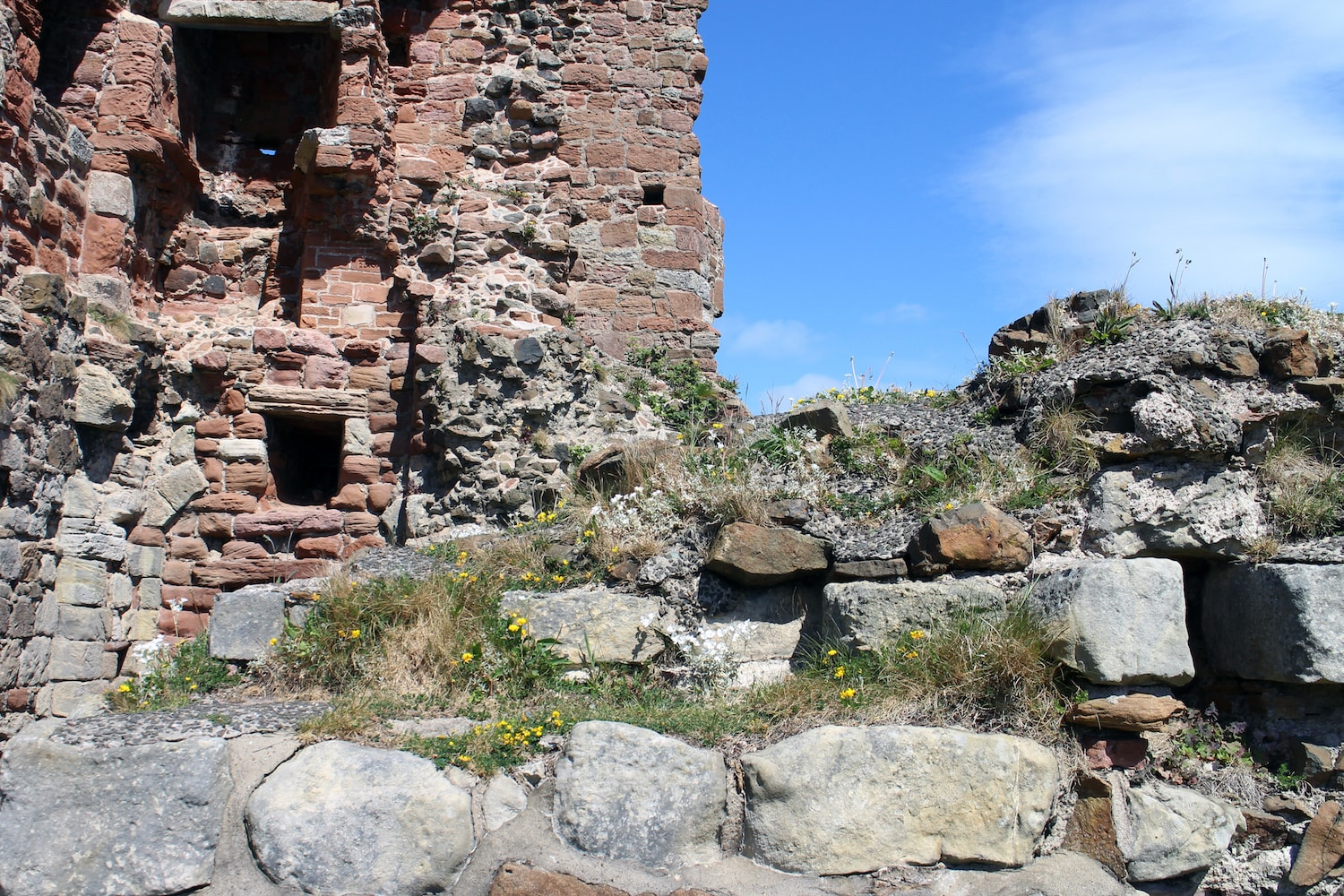 Part of ruins of Ardrossan Castle