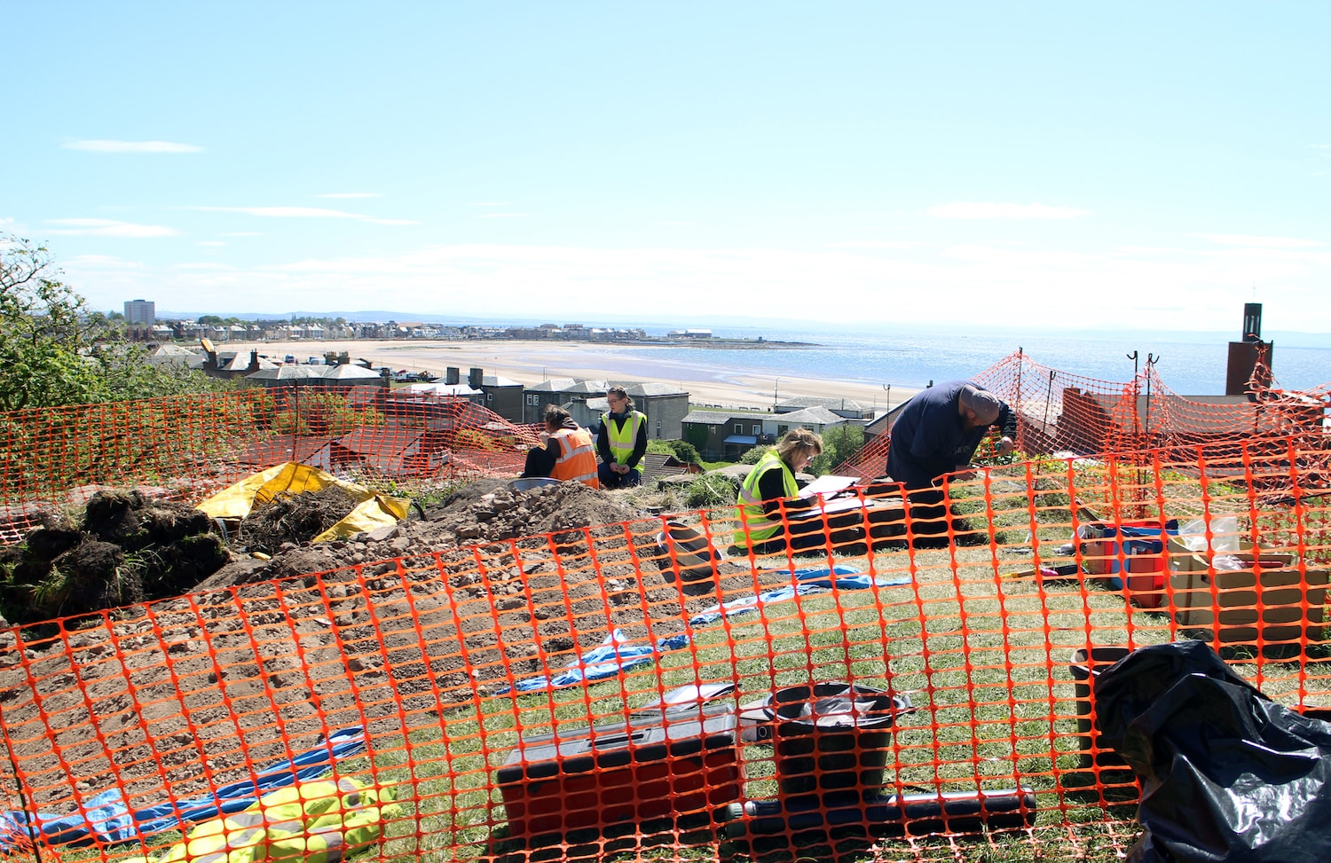 Archaeology dig work taking place in the grounds of Ardrossan Castle
