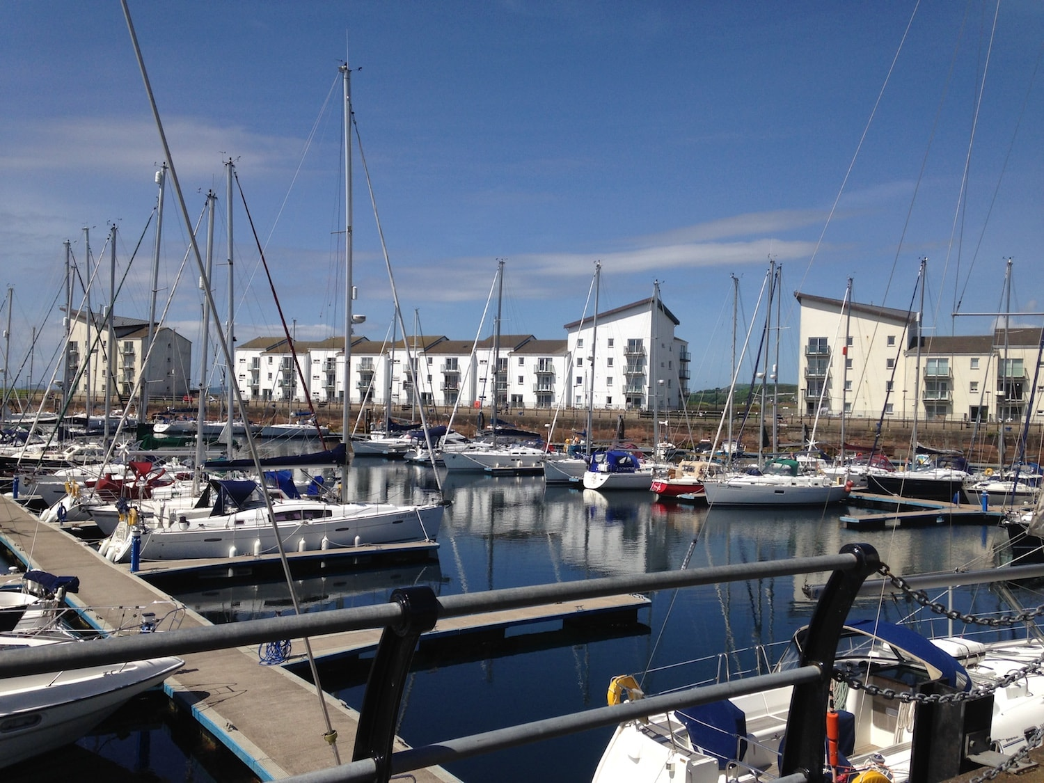 Eglinton Basin was once at the heart of thriving commercial docks, today it hosts a marina for up to 280 vessels.