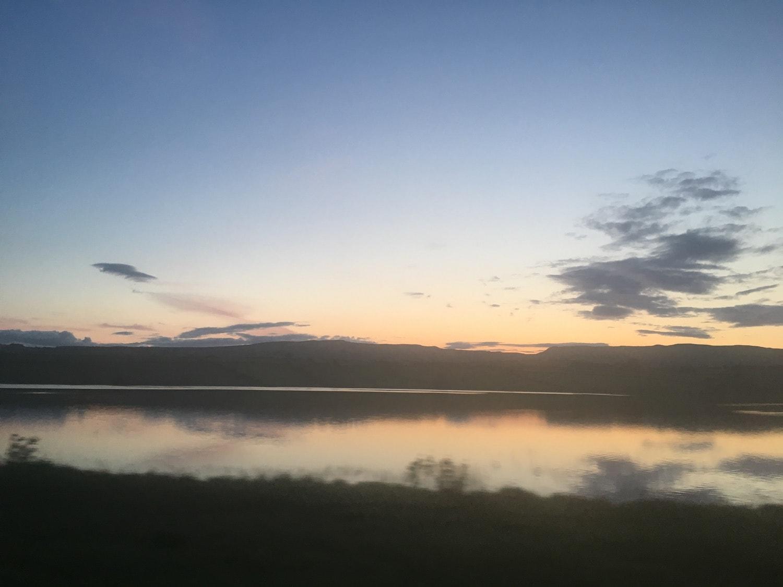 Fading sunset looking over Kilbirnie Loch