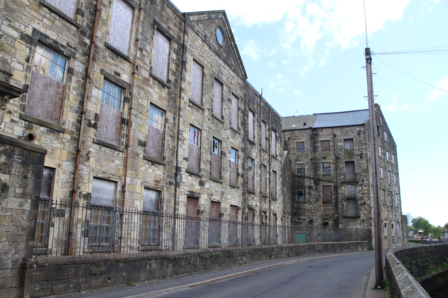 Stoneyholm Mill has been used as to produce cotton, spin flax and manufacture nets and twine