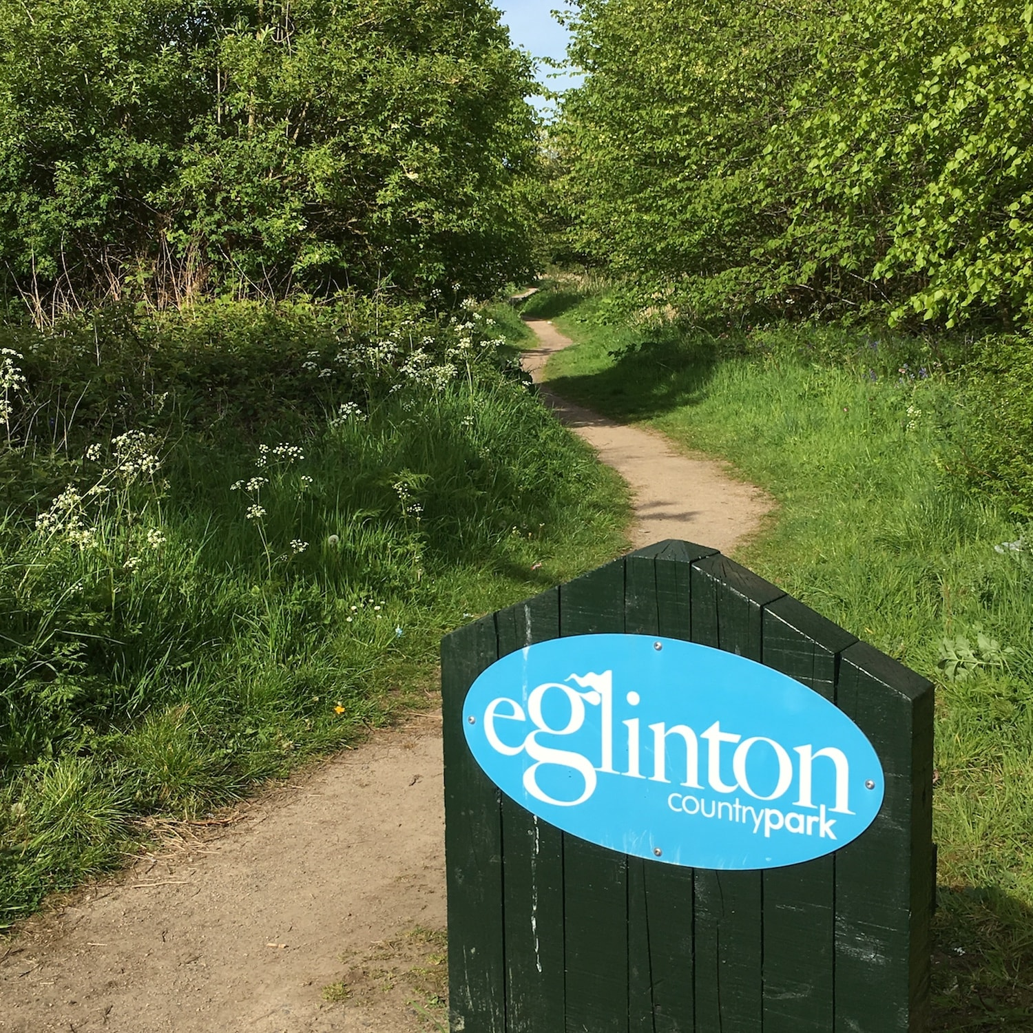 Path leading to Eglinton Country Park