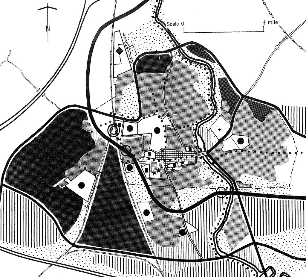 Original New Town plan