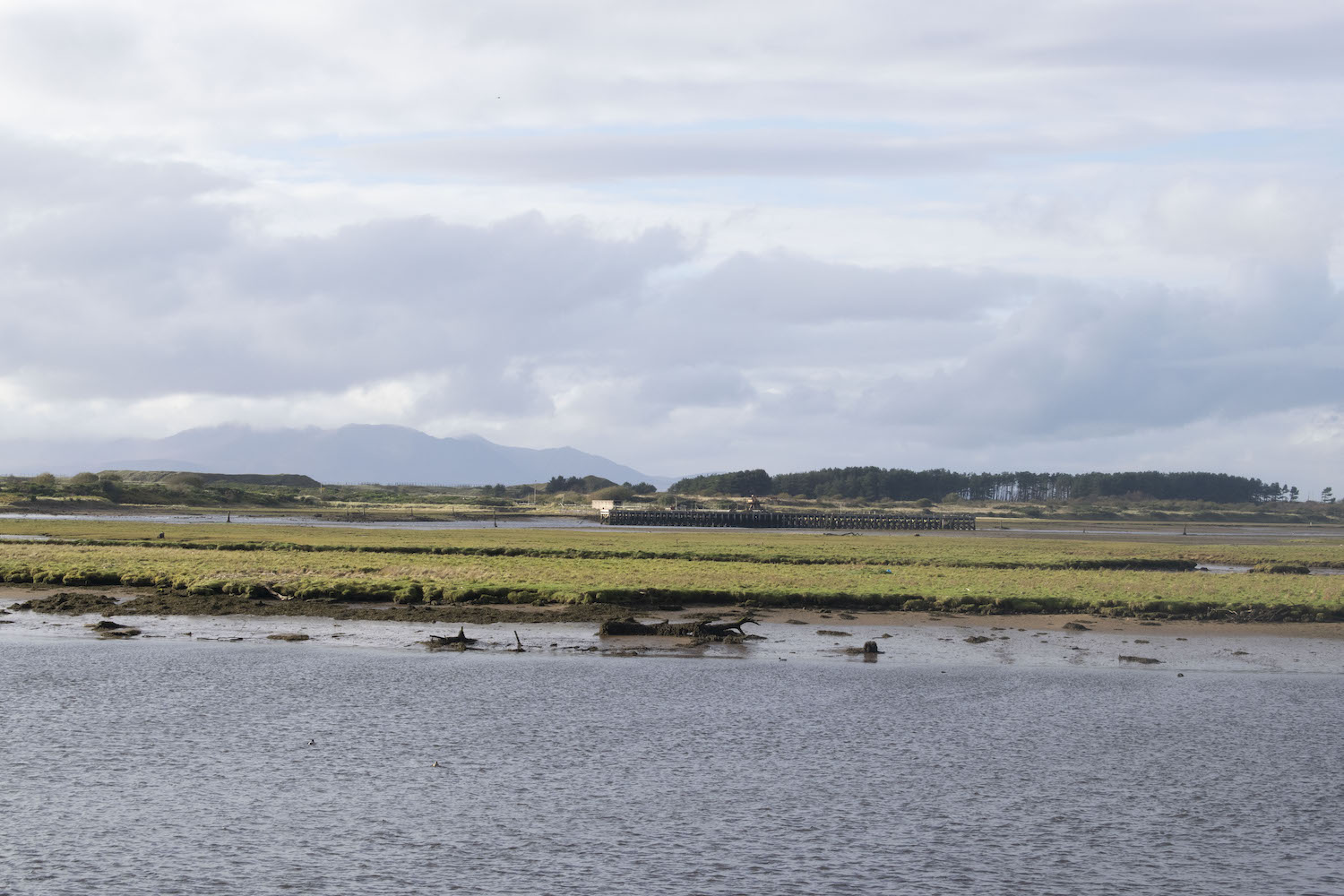 AThe old jetty of ICI Ardeer on the River Garnock as seen from the harbourside in Irvine